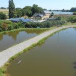 vue aérienne du Domaine piscicole